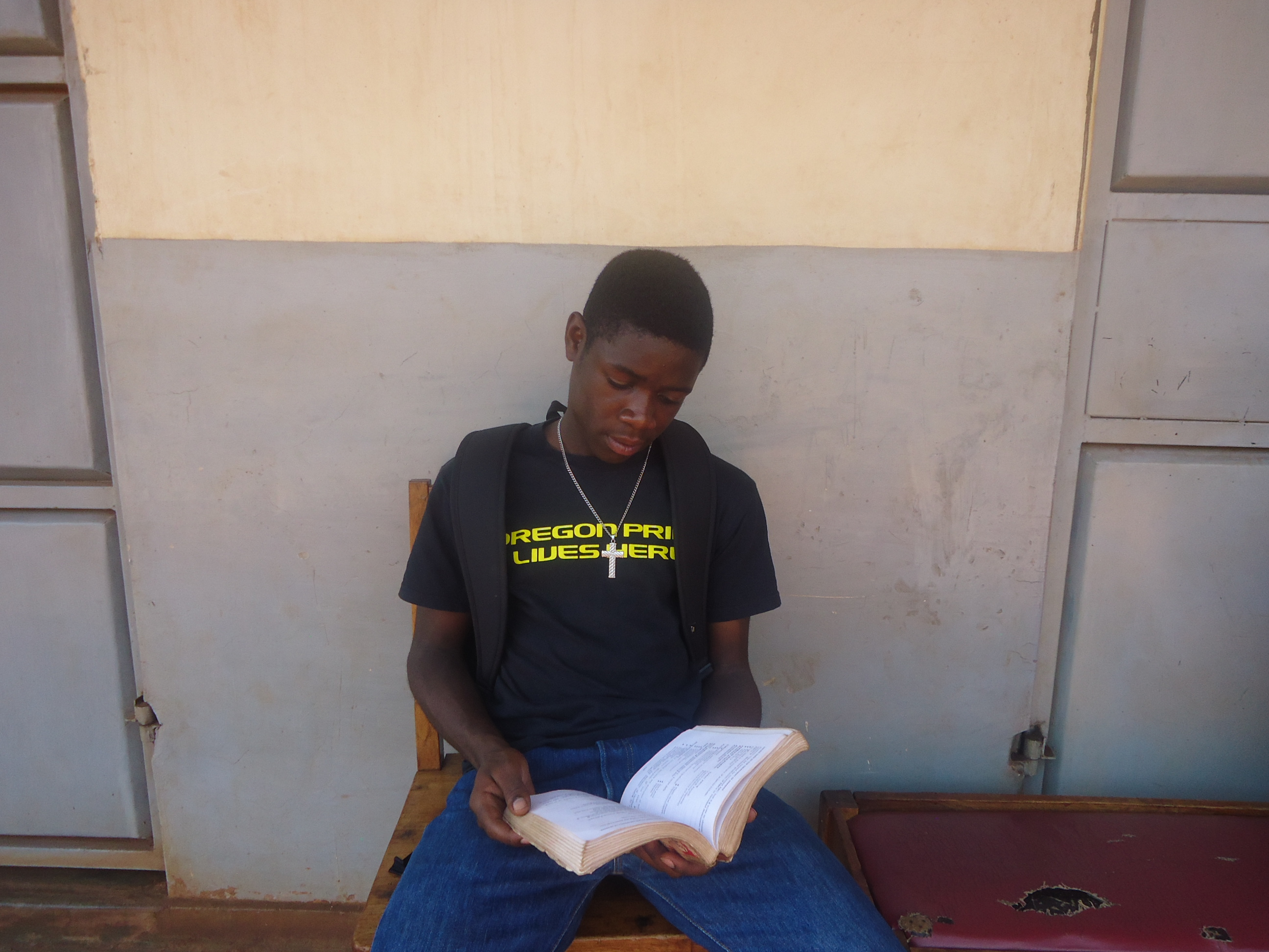 pfp give hope meet lotte annual raffle allan a senior 3 student who wishes to become a doctor has started his job shadowing experience dr mufumba s clinic he shadows the doctor as well as