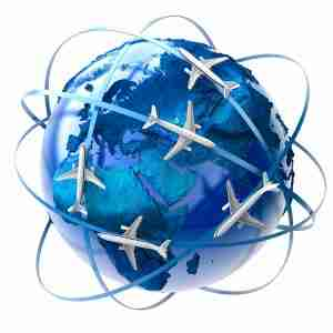 The metaphor of international air travel around the globe